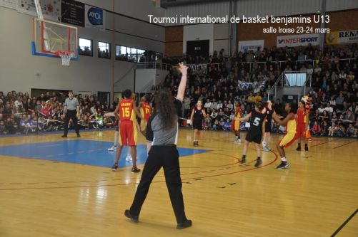 Tournoi international de basket benjamins 2013